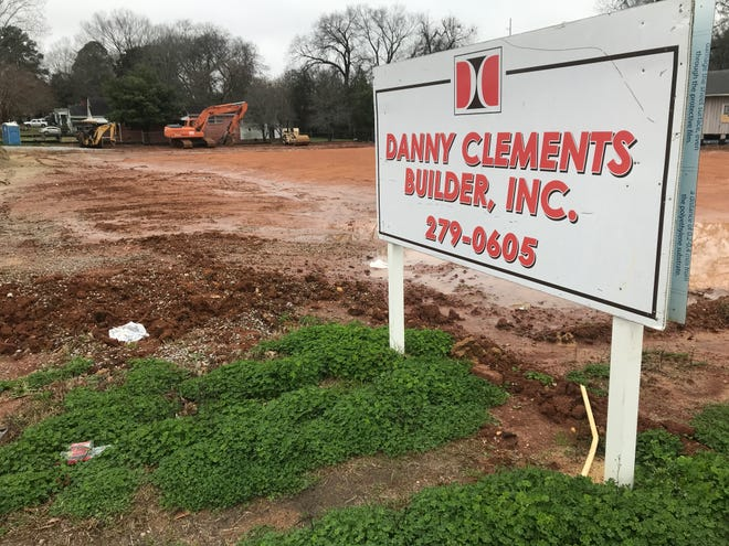 A site along Ann Street in midtown Montgomery is cleared ahead of construction of a Dunkin' restaurant.