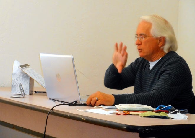 Dr. Fred Fox of Silver City talks about the COVID-19 vaccine during a Lunch and Learn webinar sponsored by the Western Institute for Lifelong Learning Feb. 6 at Western New Mexico University in Silver City.