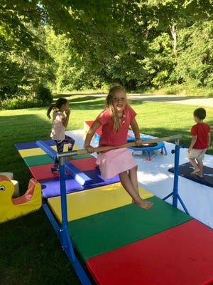 A setup for an outdoor party put on by Melanie Plank last year. The Commerce Township resident plans to open an indoor playground called Play and Grow in Milford later this year.
