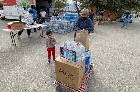 To provide residents of the Oasis Mobile Home Park in Thermal with safe water, AquaTru units were donated and delivered on Monday, Feb. 15, 2021.