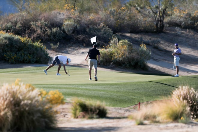 The Prestige golf tournament takes place at PGA WEST Greg Norman Golf Course in La Quinta, Calif. on Wednesday, February 17, 2021.
