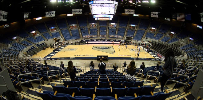 Lawlor Events Center is shown during a Nevada women's basketball game earlier this season.