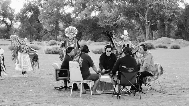 "Members of the Pyramid Lake Paiute Tribe during the October 2020 filming of the ""Biko"" video re-released by Peter Gabriel in December 2020."