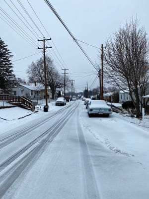 Snow and sleet fell overnight into Thursday, Feb. 18, 2021 creating for slippery roads and icy conditions in Staunton and much of the area.