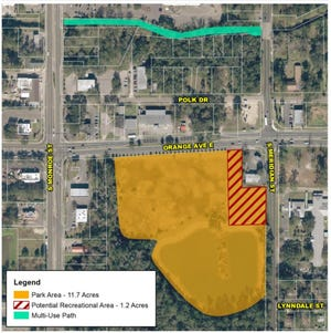 The proposed project would create a park, trail and recreational area.