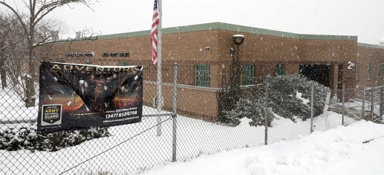 The exterior of the Yonkers National Guard recruiting center on North Broadway, Feb. 18, 2021.