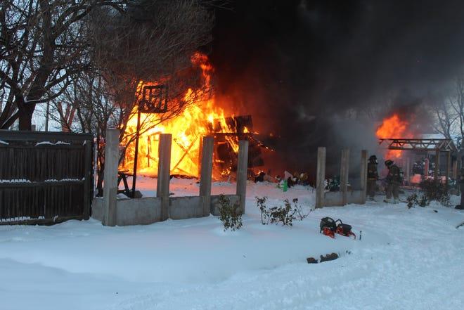 House fire on Avenue G