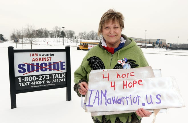Beth Ann Ingram is augmenting the I AM a Warrior against suicide signs she has gotten installed at local high schools with a new website that will be a one-stop location for people who need help.