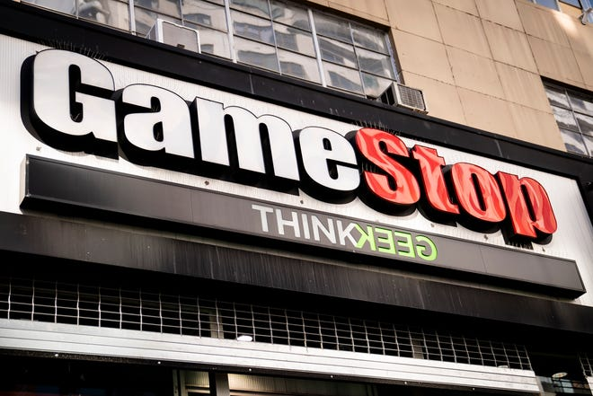A GameStop store on 14th Street at Union Square in Manhattan.