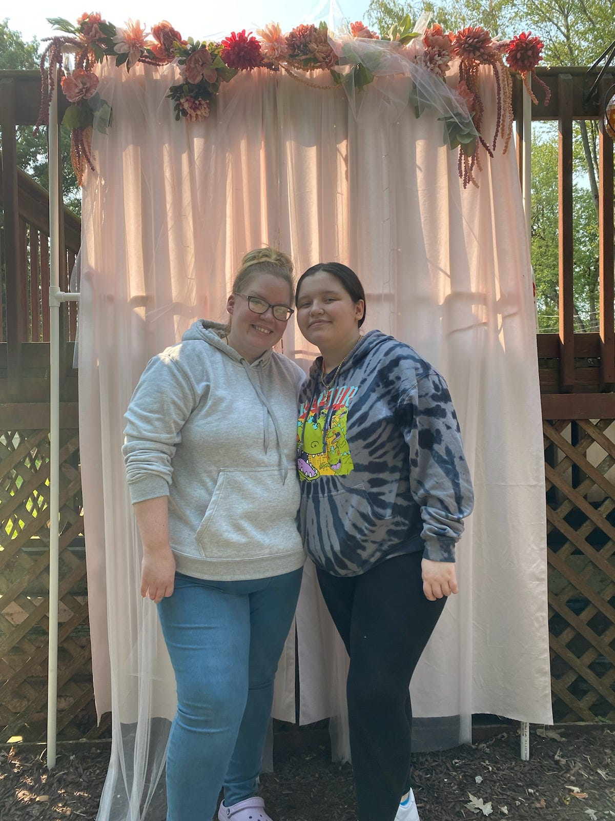 Stacy Rodriguez, 36, (Left) poses with her daughter Isabell Rodriguez, 15 (Right). Rodriguez has been on a journey to nurse her teenage daughter back to health after 13 surgeries have failed to remove and repair diseased tissue caused by her pilonidal disease. Rodriguez said she would put stimulus money towards the surgery costs.