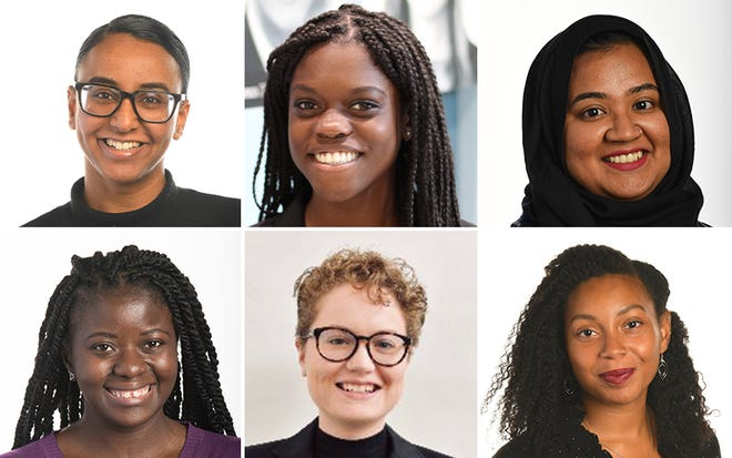 From top left, USA TODAY's Rasha Ali, Lokela Blanc, Fatima Farha, Mabinty Quarshie, Claire Thornton and N'Dea Yancey-Bragg.