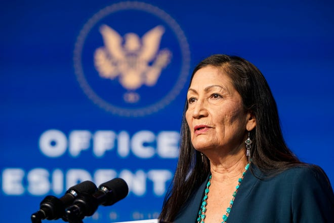 Rep. Deb. Haaland on Dec. 19, 2020, in Wilmington, Delaware.