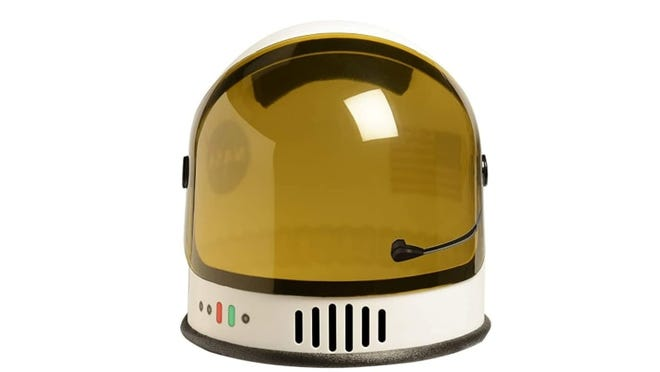 This helmet will make them feel like they are ready to trek through outer space.