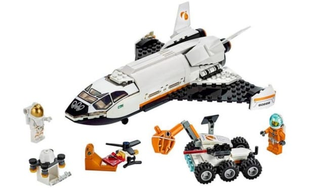 City Lego takes to outer space with this shuttle, astronaut, rover, and drone set.