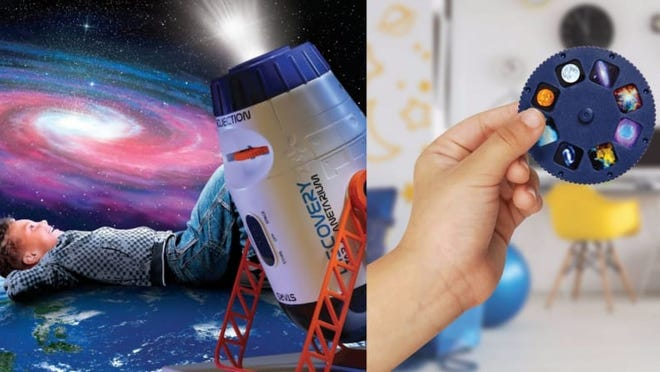 This cool toy is a nightlight and a planetarium all in one.