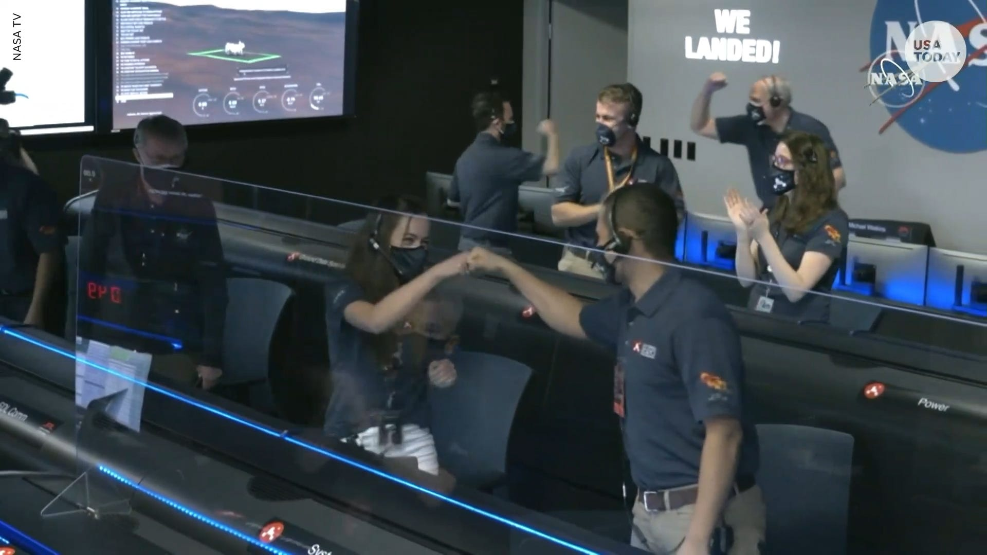 Watch as NASA's Perseverance rover landing on Mars is met with celebrations