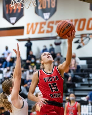 AJ Marotte and the Vista Ridge girls basketball team will continue their playoff run Monday in a second-round game. The UIL pushed back the state championship games to March 10-11 to give teams flexibility in scheduling after the winter storm halted action across Texas.