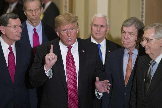 It's pie in the sky to ask rank-and-file Republicans to denounce the man they've clung to, Donald Trump, David Brooks writes. [AP Photo/Alex Brandon, File]