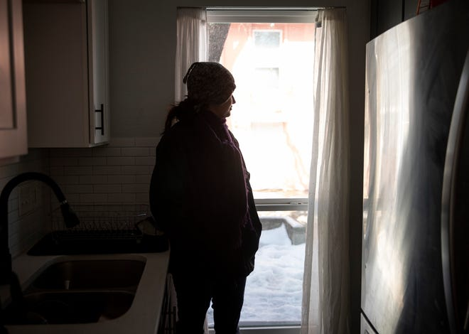 Thea Clay remains without electricity in her condo on Southway Drive on Friday. She has been without power since Monday at 2 a.m.