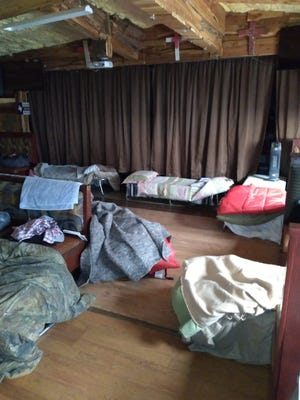 The inside sleeping area of the In The Streets Hands Up High Ministry in Bastrop is shown. The ministry operated a warming station, one of the only ones in Bastrop County, for county residents to use during last week's winter weather as utility outages occurred in Central Texas.