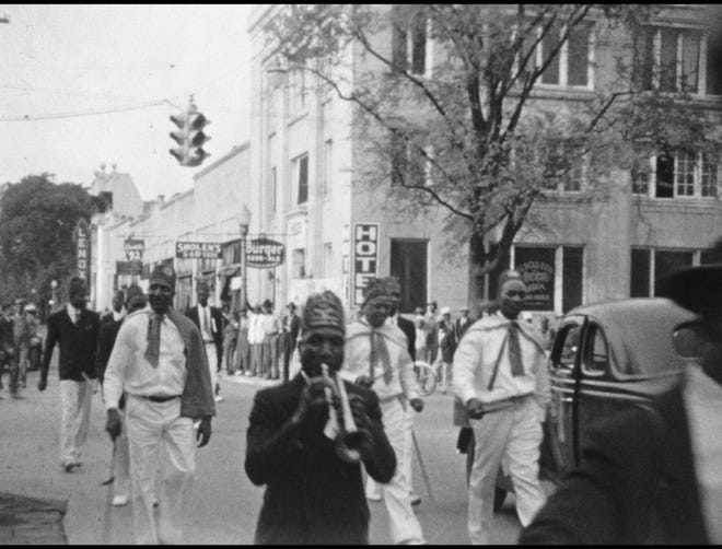 "Footage discovered by the University of Georgia Libraries shows a Black Elks parade and convention in the Laney-Walker area in 1939. ""We just don't see this kind of footage of the Black community,"" said Margaret Compton, the UGA Libraries' film archivist."