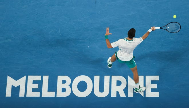 """The No. 1-seeded Novak Djokovic is 17-0 in Australian Open semifinals and finals. """"The more I win, the better I feel coming back each year,"""" Djokovic said."""