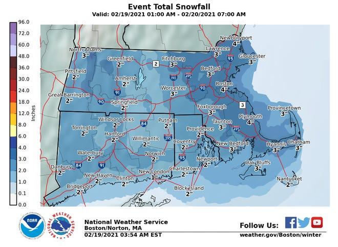 Looks like Cape Codders can expect a few more inches of snow by Saturday morning.