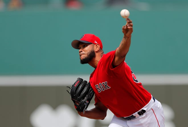 Eduardo Rodriguez didn't pitch in 2020 after testing positive for COVID-19 and developing myocarditis.