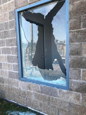 The windows were broken out of the east and west towers of the pedestrian foot bridge and the Cheboygan Department of Public Safety is looking for any information the public may have.