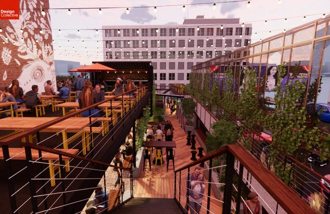 Jackie O's plans a multi-level outdoor space at its Downtown brewery.