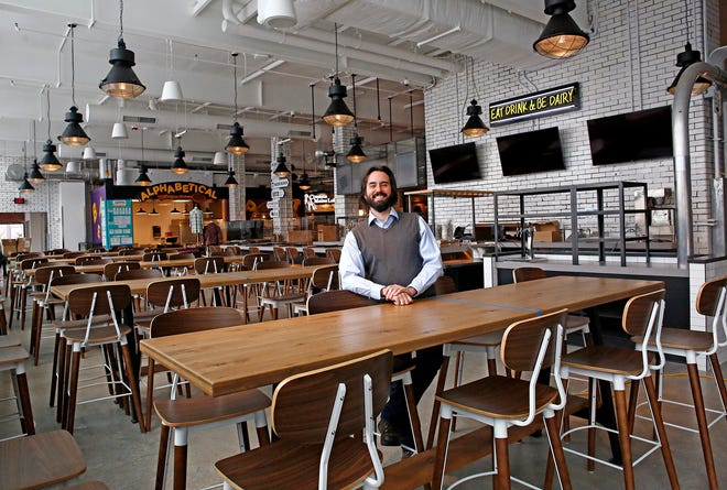 General manager Jeremy Hughes at Budd Dairy Food Hall.