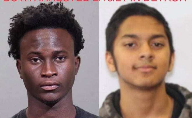 Aboubacar Toure, 19 (left), and Sabab Islam, 18,  were arrested in Michigan on Feb. 18, 2021 in connection with the Jan. 24, 2021 shooting death of 14-year-old Dayvion Jones.