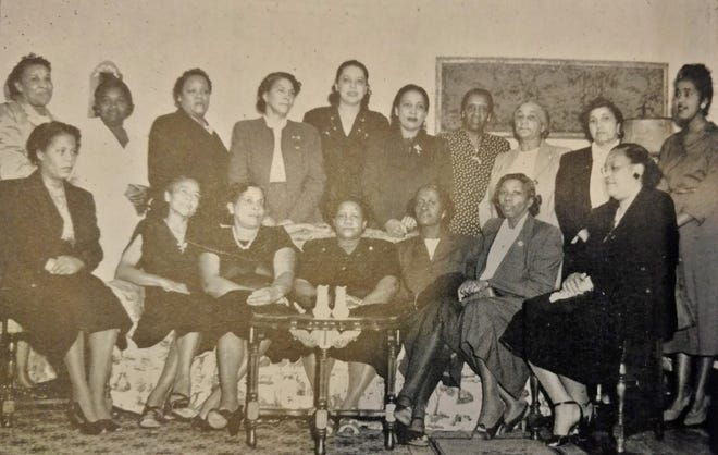 Members of the Columbia Arts and Social Club in 1949 supported community-based activities and organizations through the decades, including supporting war efforts, holding stamp drives, and sewing and knitting for the Red Cross.