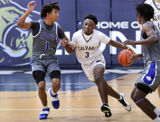 Calvary Christian, led by Karl Knighten, was one of only three area boys' basketball teams to reach the postseason for 2020-21.