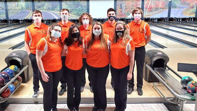 The Quincy Bowling team swept Vandercook Lake Thursday. The boys rolled to a win while the girls took an exciting win in a roll off.