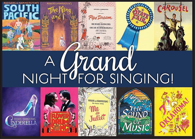 "The Erie Playhouse will present ""A Grand Night for Singing,"" featuring the music of Rodgers and Hammerstein, the weekend of March 26-28. Tickets go on sale Feb. 22, 2021."