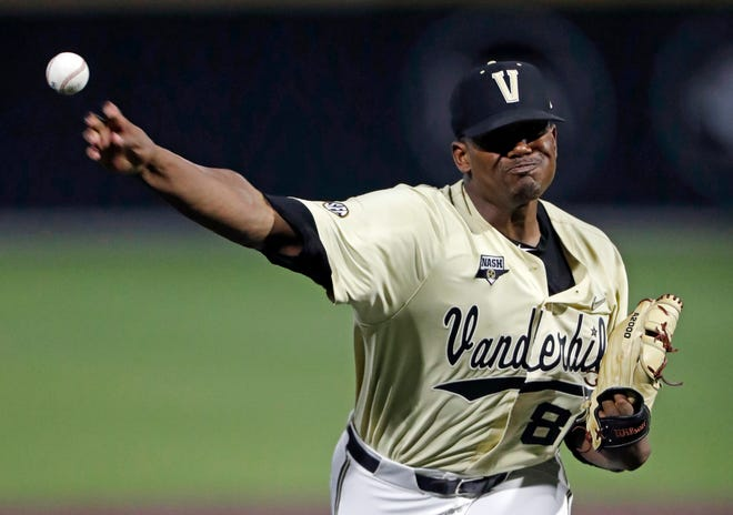 Vanderbilt pitcher Kumar Rocker is expected to be the No. 1 pick in the Major League Baseball draft.
