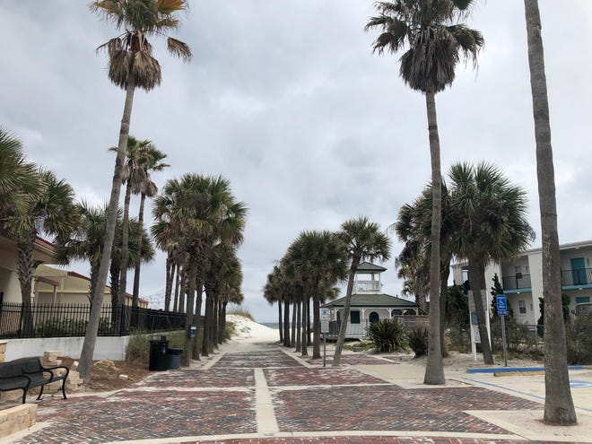 The beach access point at the foot of Ocean and Atlantic boulevards, Beaches Town Center, is where a beach cleanup will start on Feb. 20.