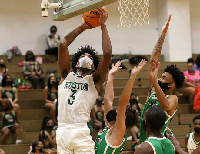 Kinston's Dontrez Styles competes on senior night against North Lenoir last Thursday.