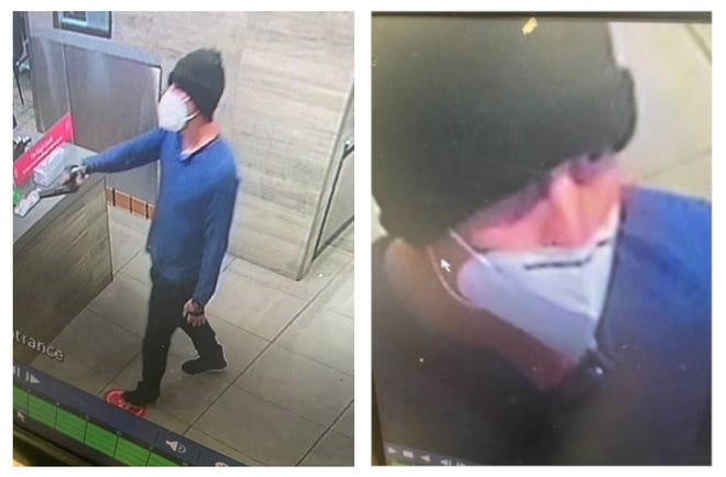 Lubbock police officials released images of a man they believed in January robbed at gunpoint a Burger King restaurant.