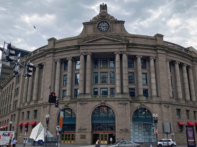 South Station, which is officially named the Governor Michael S. Dukakis Transportation Center at South Station, is the largest railroad station and intercity bus terminal in Greater Boston and the second-largest transportation center after Logan International Airport. The historic building was constructed in 1899 to replace the downtown terminals of several railroads.