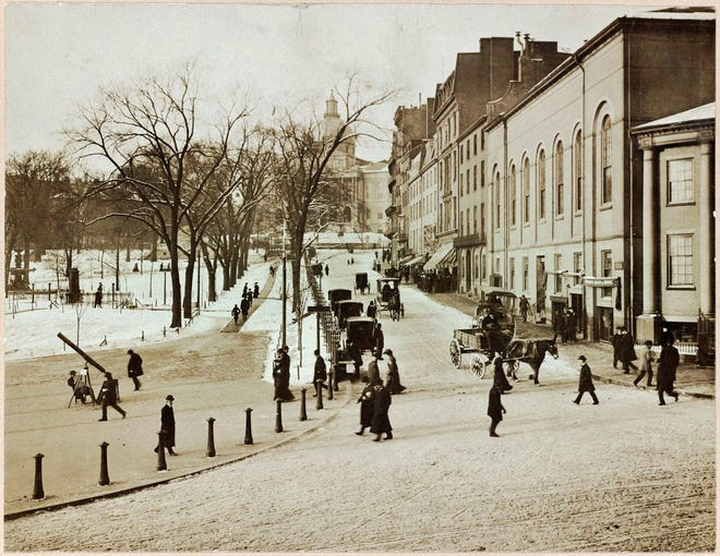 This is what the Boston Common and State House looked like during a winter in the 1890s. Learn more from Digital Commonwealth at www.digitalcommonwealth.org.