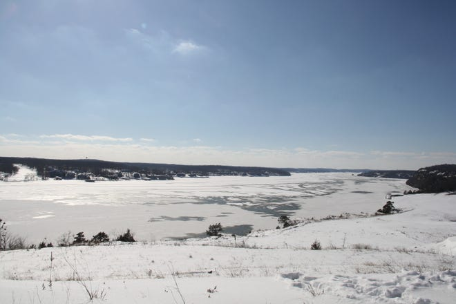 Frozen over Lake of the Ozarks.