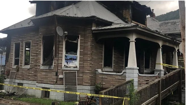 Neil David Lambka is charged with first degree arson in connection with the fire at this Third Street home that left two people homeless and injured a firefighter in March 2020. Four months later, the home was set afire again, with Christopher Gordon Thrasher being charged with arson in connection with that blaze.