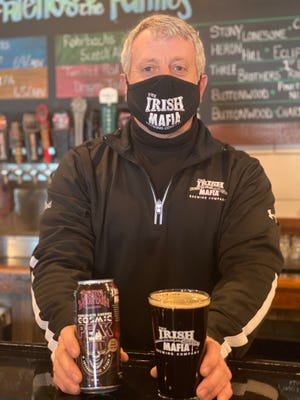 Irish Mafia Brewing Co. owner Mark Mansfield got together with Bristol Mountain to come up with a chocolate cherry stout, Cosmic Peak.