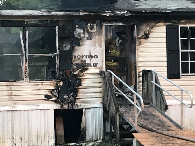 This was the scene at the mobile home fire that eventually led to a woman's death last year. A state investigator has determined that the fire was accidental.