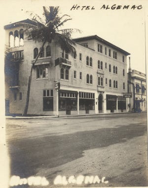 Hotel Algemac circa 1920s, can be seen from Bradley Place.