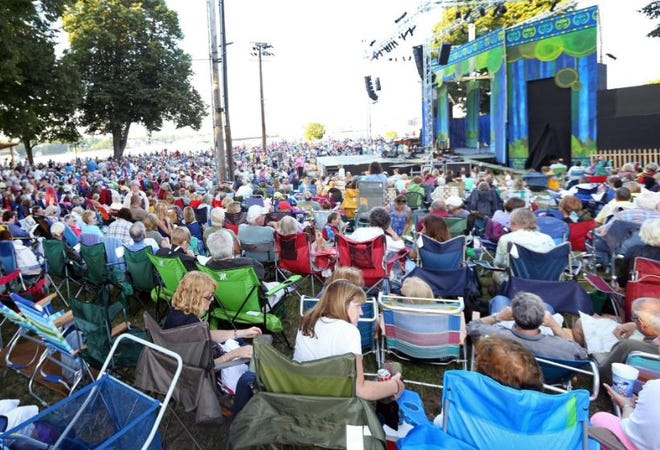 Thousands of fans attend concerts during the Prescott Park Arts Festival, which was canceled amid the coronavirus pandemic in 2020.