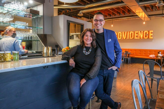 Tracy and Nick Rabar opened their second restaurant, Avenue N Providence in April, with takeout only due to the COVID pandemic. Now, limited diners eat inside and al fresco, outside.