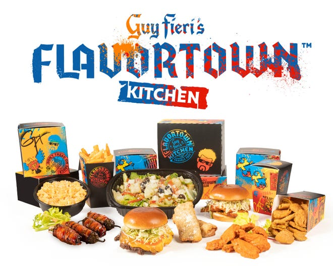 Guy Fieri's Flavortown Kitchen is one of the celebrity brands from Virtual Dining Concepts.